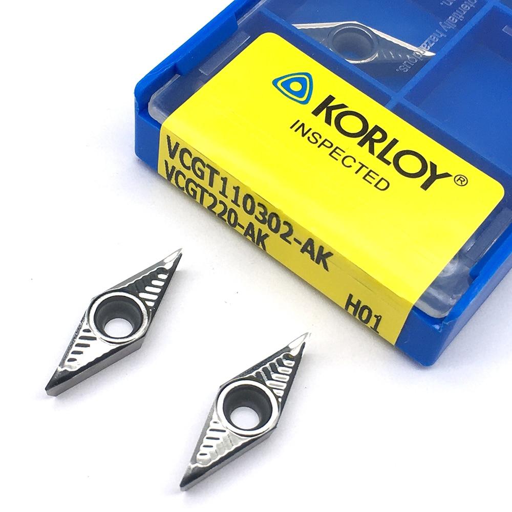 VCGT110302 AK H01 10pcs Aluminum Cutter Blade Insert Cutting Tool Turning Tool CNC Tools AL +TIN Alloy Wood