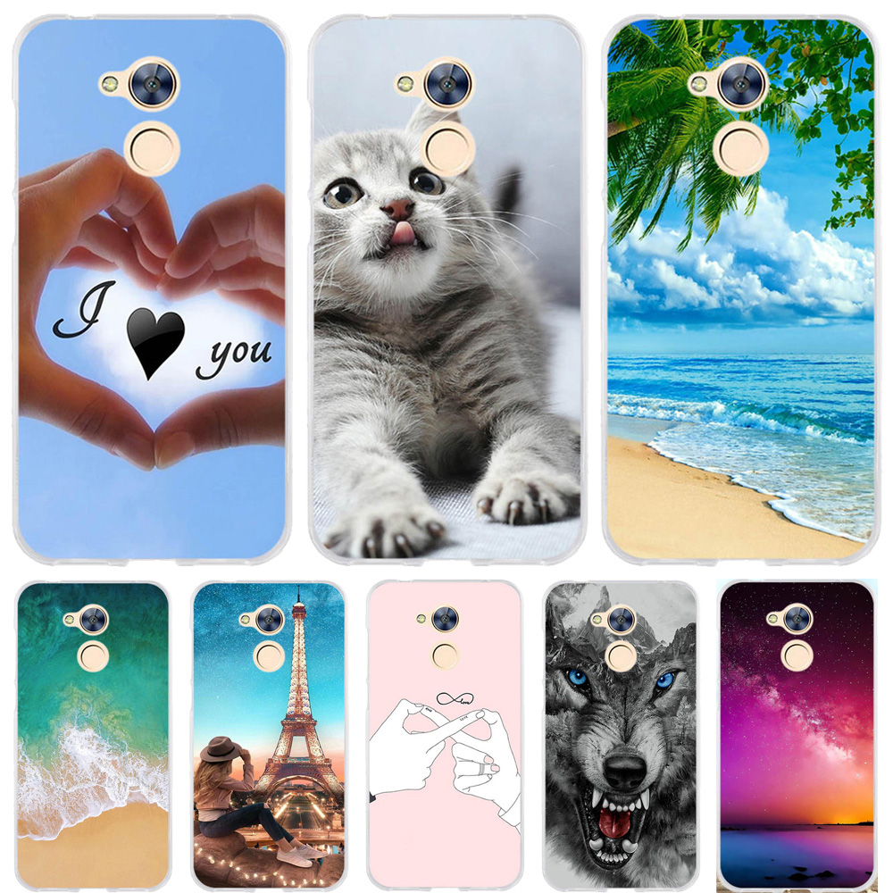 For Huawei Honor 6A Case Silicone Cover Cases Cute 3D Bag Animal Fundas Coque Pro