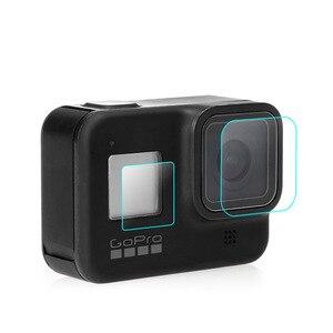 30 zestaw/partia szkło hartowane dla Gopro hero 8 czarna kamera 1 przednia soczewka + 1 folie ochronne na ekrany + 2 małe folie lcd dla hero 8