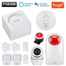 Fuers G95-alarma inteligente inalámbrica Tuya, sistema de alarma de seguridad GSM con WIFI, APP de Control, Detector de movimiento, Sensor de alarma antirrobo