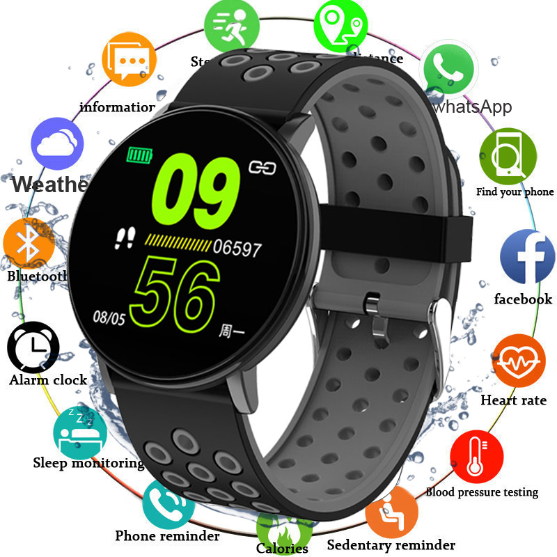 IP67 Waterproof 119Plus <font><b>Smart</b></font> Bracelet <font><b>Watch</b></font> Heart Rate <font><b>Smart</b></font> <font><b>Watch</b></font> Wristband Sports <font><b>Watches</b></font> Band Smartwatch For Android IOS A2 image