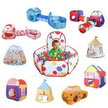 39 стиль Крытый открытый детская палатка игрушка детский Океанский шар игровой домик трубопровод ползающий туннель игрушка складной океан мяч бассейн