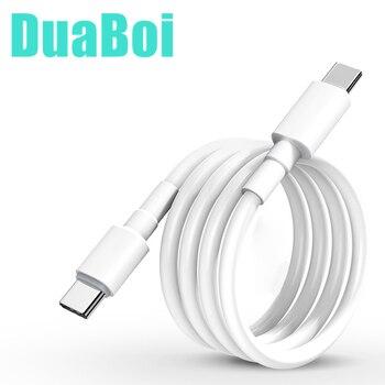 Кабель USB C-USB C для быстрой зарядки, двойной кабель Type C для iPad Pro 25 см/1 м/2 м, кабель для быстрой зарядки для Xiaomi 10 Redmi 10X Pro K30 8A 9