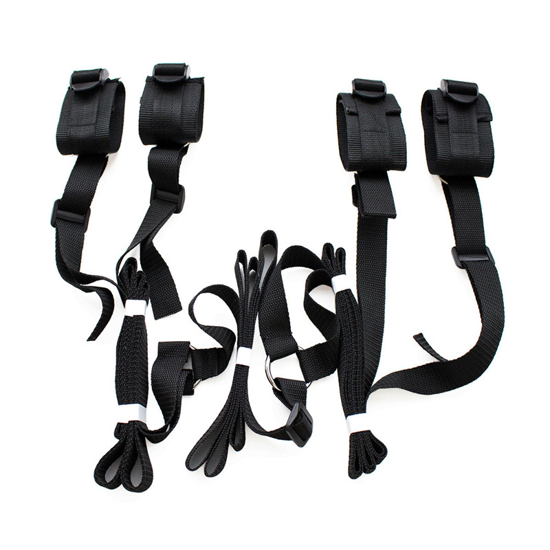 Sex Handcuffs Bdsm Bondage Erotic Under Bed BDSM Bondage Restraint Strap System Sex Toys For Adults Wrists & Ankle Cuffs Gifts