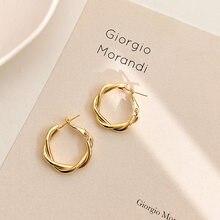 LATS – boucles d'oreilles géométriques rondes en métal pour femmes, accessoires, bijoux de fête rétro
