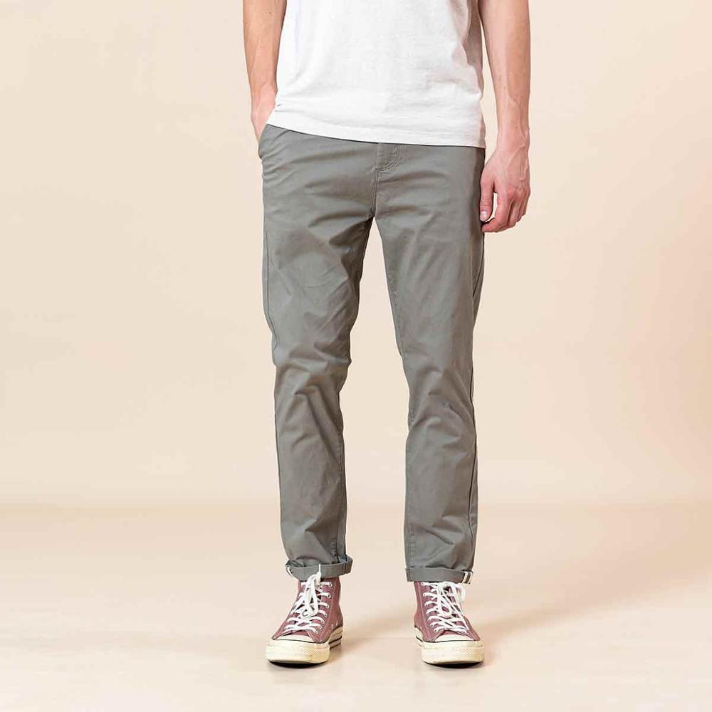 SIMWOO 2020 Spring Summer New Slim Fit Tapered Pants Men Enzyme Washed Classical Chinos  Basic Plus Size Trousers SJ150482