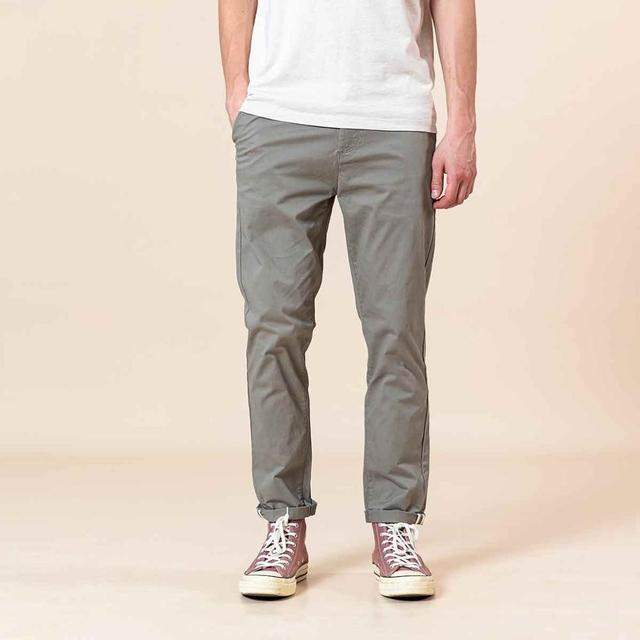 SIMWOO 2020 Spring Summer New Slim Fit Tapered Pants Men Enzyme Washed Classical Chinos  Basic Plus Size Trousers SJ150482 57