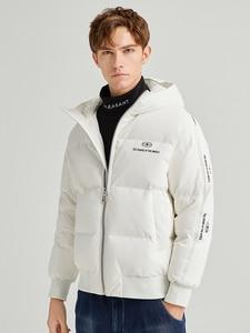 Image 2 - Pioneer Camp Fashion Men Winter Duck Down Jacket Solid Warm Simple Waterproof Zipper Pocket High Quality Jackets Men AYR903431