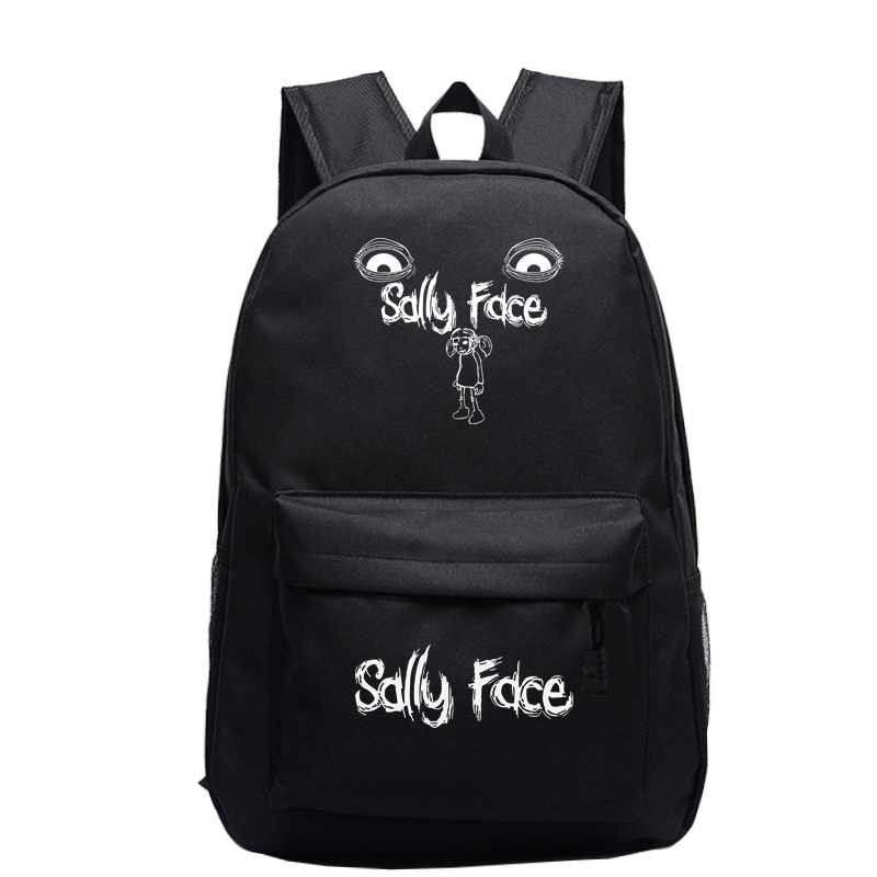 Купить с кэшбэком Sally face Backpack cartoon School Bag  School Backpacks Girls Boys Toddler Bag Kids mochila Book Bags