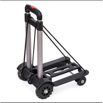 Składany wózek wózek ogrodowy przyczepa wózek domowy wózek na zakupy wózek składany przenośny aluminiowy czarny łożysko 40kg tanie i dobre opinie max 40kg 19111807510868884 439583 Aluminium Alloy portable foldable 340x250x960mm Trolley Trailer Garden Cart foldable cart