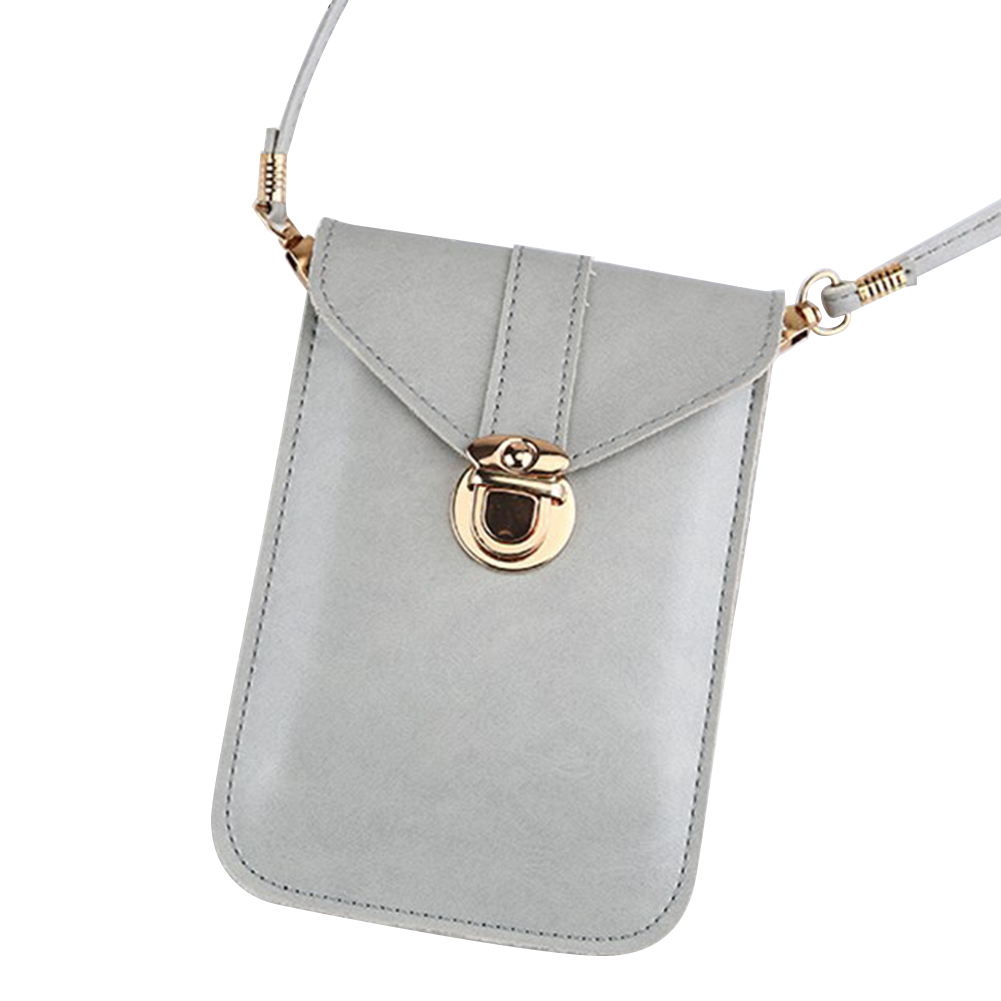 Touches Screen PU Leather Change Bag Women Crossbody Mobile Phone Pouch Wallet Mothers Day Gift Best Sale-WT