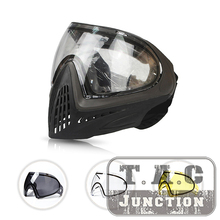 Tactical Thermal Airsoft Paintball Goggle Full Face Mask Dual Anti-Fog Lens High Vision Adjustable Shooting Accessories GYBK