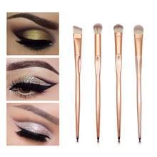 4 Pçs/set Pincéis de Maquiagem Ouro Rosa Olho Sombra Escova Escova Sobrancelha Ferramentas de Maquiagem Pincel de Corretivo Vara Pó Facilmente E Não Desbotar