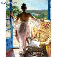 Gatyztory картина по номерам наборы maiden at the window фигурка