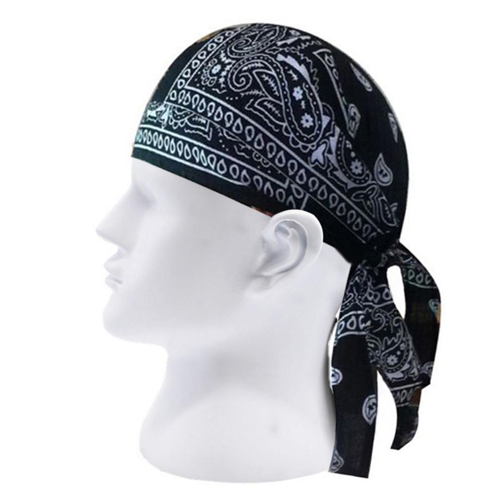 Adult Men Paisley Print Motorcycle Wrap Biker Hat Bandana Headscarf Skull Cap Hat Bandana Headscarf Skull Cap Hat Bandana Headsc