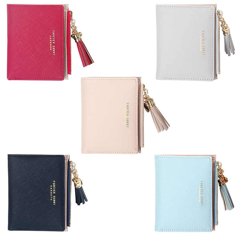 2020 Fashion Vrouwen Portefeuilles Kwastje Korte Wallet Voor Vrouw Rits Mini Portemonnee Dames Kleine Portemonnee Vrouwelijke Lederen Kaart houder