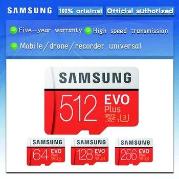 Original SAMSUNG EVO Plus Memory Card 64GB 128GB  32GB 256GB 512GB Micro SD card Class10 TF Card C10