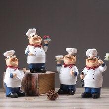 Hars Chef Restaurant Chef Standbeeld Home Keuken Ornament Beeldje Tafel Decor Welkom