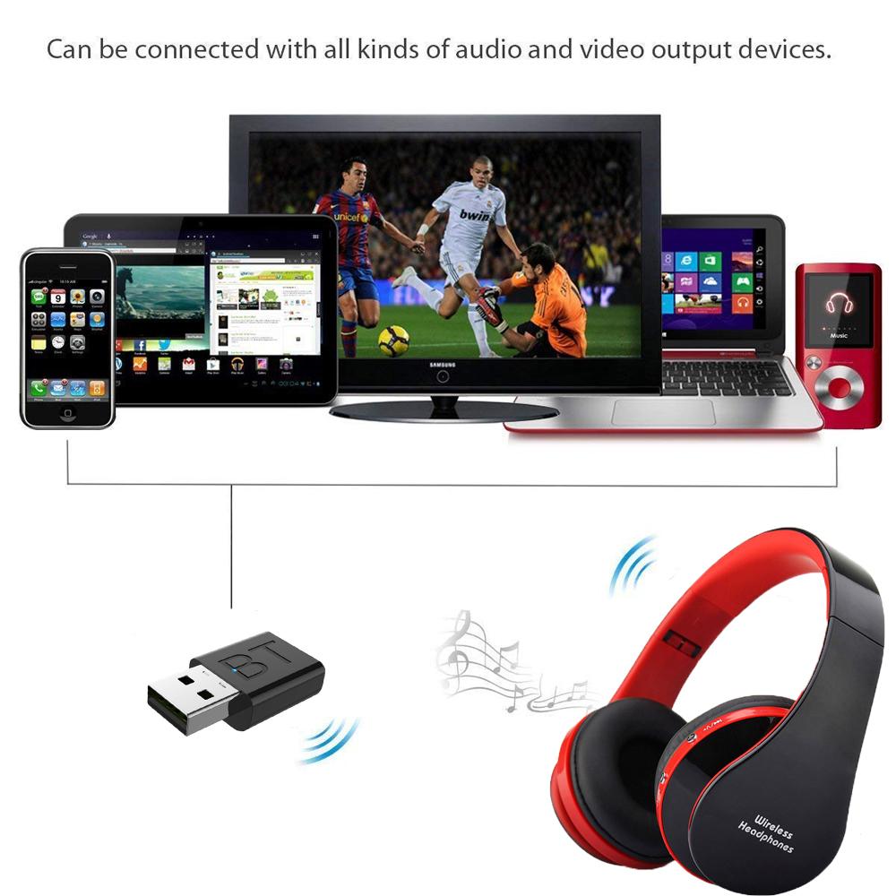 lowest price New Portable Wireless Headphones Bluetooth Stereo Foldable Headset Audio Mp3 Adjustable Earphones with Mic for Music