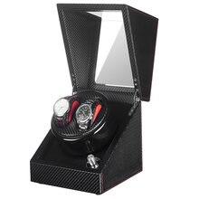 2020 черный намоточный деревянный автоматический ящик часов
