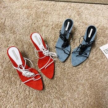 Verano de las mujeres de lujo rojo esmerilado Patchwork sandalias de playa zapatos de tacón alto zapatos romanos zapatos casuales de diseño sandalias de correa de tobillo