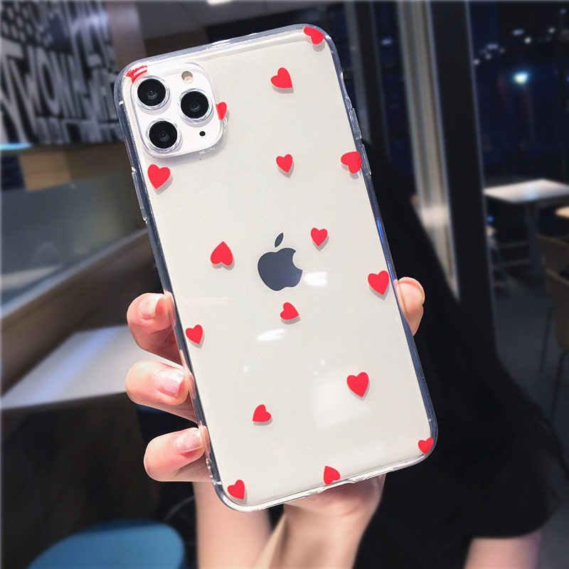 Moskado 愛 iphone 11 × xr xs 最大ソフト tpu フィットケース iphone 6 s 7 8 7 プラス透明ドットカバー