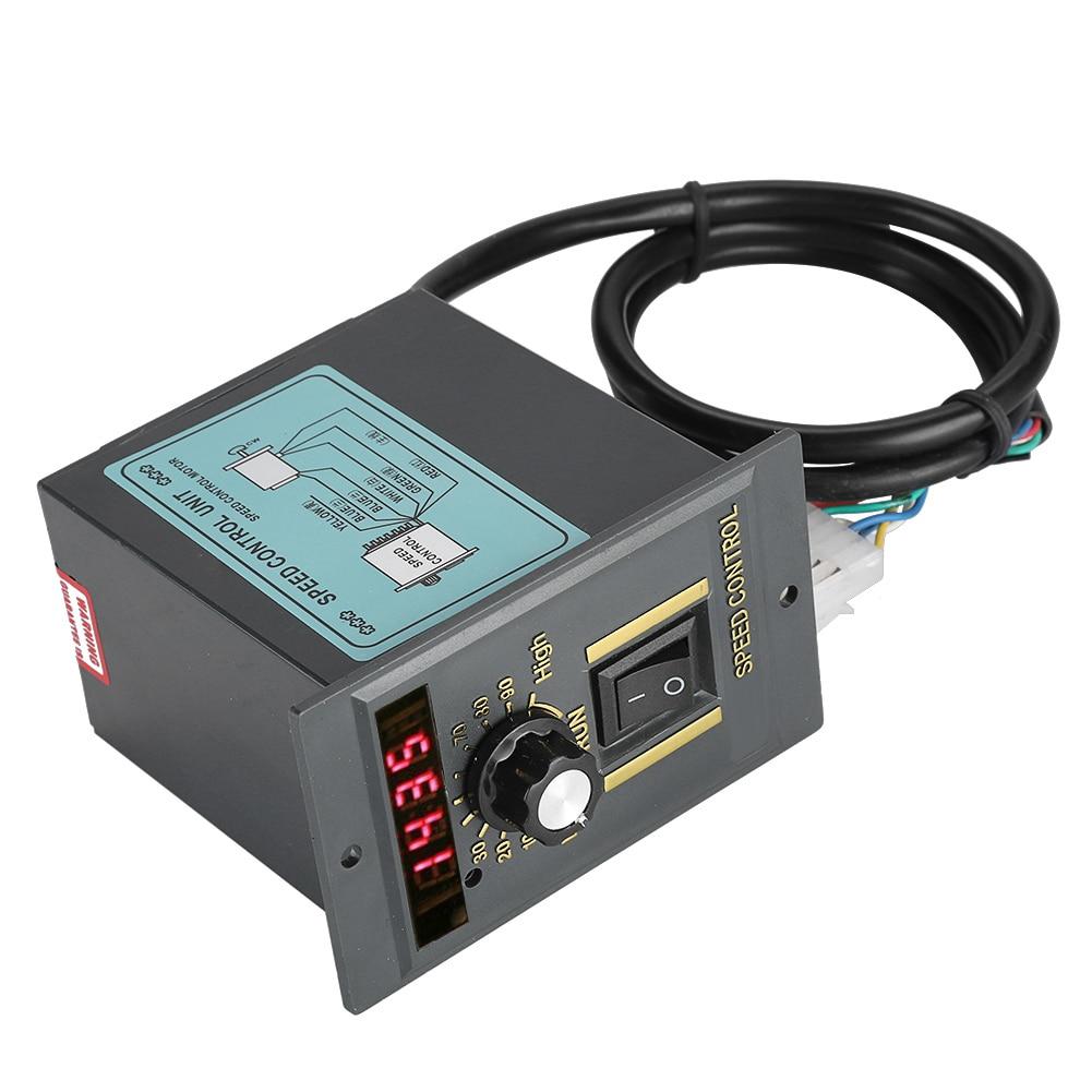400W AC 220V 50Hz Motor Speed Controller Digital Adjustable Stepless Plc Motor Speed Controller 0-1450rpm Speed Regulator