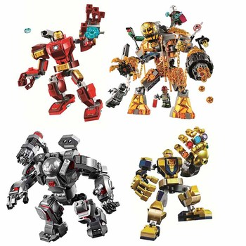 New 2020 Super Heroes Endgame Ironman War Machine Buster mecha Building Blocks DIY Educational Bricks Toys For Children single sale modok george tarleton from hulk lab smash set building blocks super heroes bricks action toys for children kf918