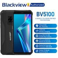 Blackview BV5100 IP68 Waterproof Rugged Smartphone 5.7'' Screen Android 10 Helio P22 Octa Core 4GB 64GB ROM Mobile NFC 5580mAh 1