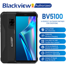 Blackview BV5100 IP68 Waterproof Rugged Smartphone 5.7'' Screen Android 10 Helio P22 Octa Core 4GB 64GB ROM Mobile NFC 5580mAh