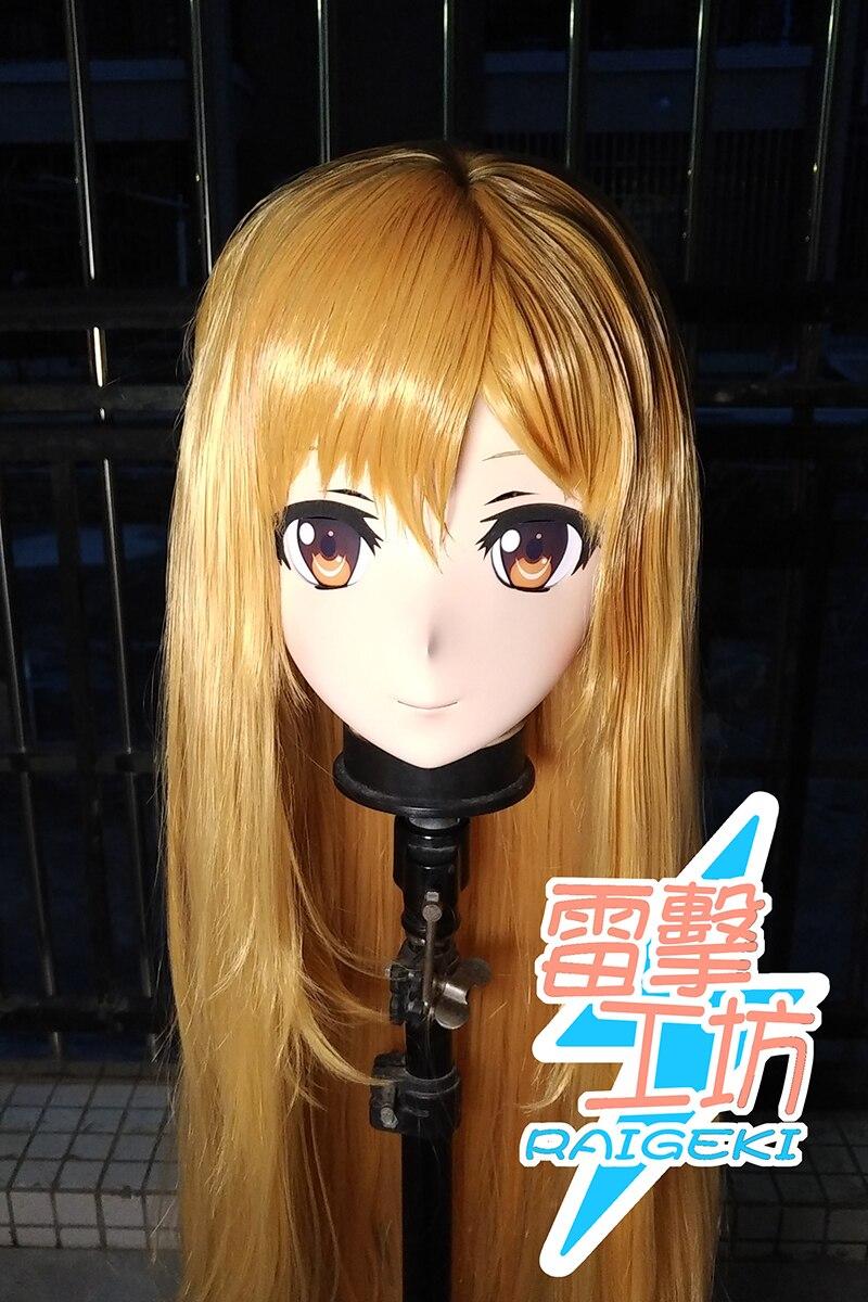 (RAIGEKI MAKS 01) Resin 3/4 Head Female/Girl Kigurumi Anime Cosplay Masks Crossdress Japan Role Lolita Crossdresser DOLL BJD Cos