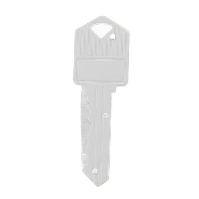 Мини-нож в виде ключа Тактический лагерь Открытый брелок складной открытие Открыватель Карманный Самообороны безопасности многофункциональный инструмент коробка для лезвий - Цвет: White
