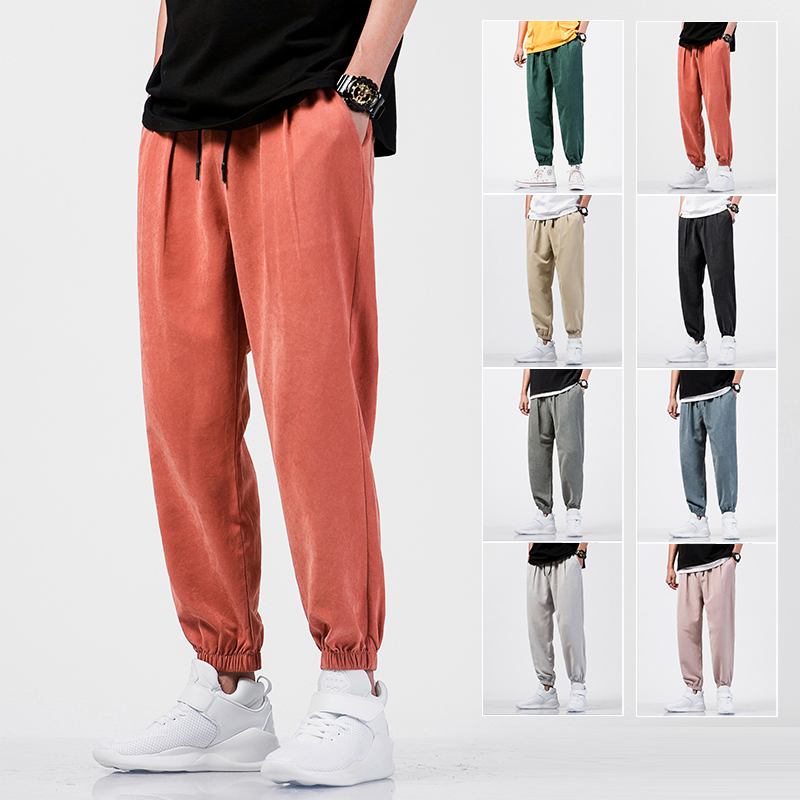 Dropshipping Male Sweatpants Joggers Autumn Japanese Mens Losse Sweatpants Men Solid Harajuku Streetwear Harem Pants 2020 New