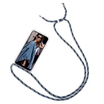 Чехол для телефона Samsung Galaxy A5 A6 A7 A8 A9 2018 с цепочкой и шнуром для ожерелья A51 A71 10 20 30 40 50 70 Funda