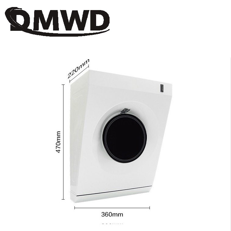 DMWD Mini Metal Cooker Air Vent Hood Side Suction Wall Range Hoods Exhausting Fan Small Apartment Kitchen Ventilator Extractor