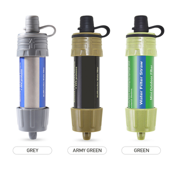 Outdoor EDC Survival Water Filter Straws Hiking Accessories Water Purifier Water Filtration System Emergency Camping Equipment 4