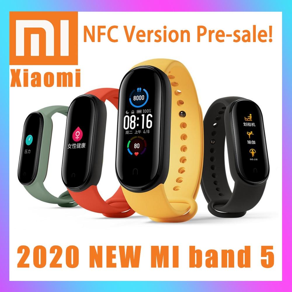 Xiaomi Fitness Bracelet Mi-Band Swim-Sport-Monitor 24h-Heart-Rate Magnetic NEW 5 Step