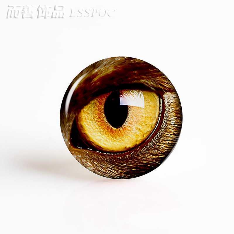 1PCS חמוד בעלי החיים עיני הדרקון ינשוף חתול עיניים 25MM זכוכית קרושון בסיס בעבודת יד אספקת תכשיטי DIY שרשרת צמיד Keychain