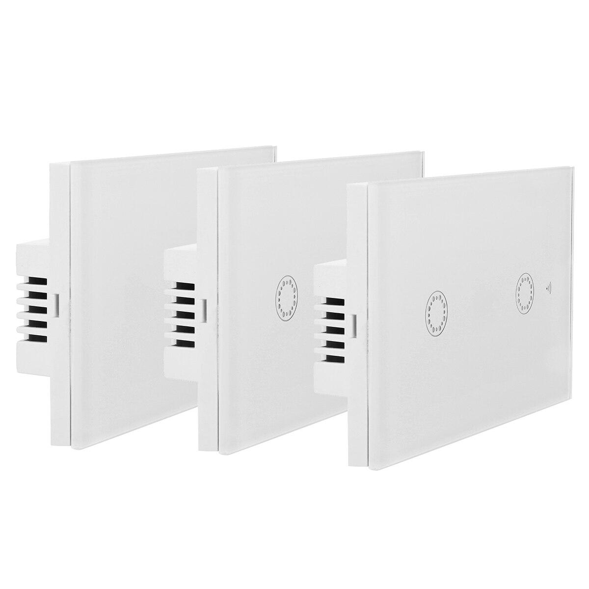 90-250V 1000W WiFi táctil Schalter 1/banda 2/3 interruptor táctil inteligente interruptor de la luz del Panel de la pared interruptor App-Steuerung varita schalter