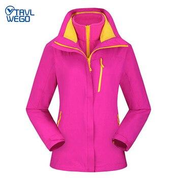 TRVLWEGO Women Warm Winter Outdoor Rain Jacket Skiing Women Windproof Waterproof Mountaineering Climbing Camping Hiking Coat цена 2017