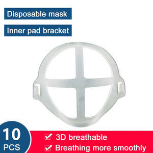 Bracket Mask Face-Mask-Holder Breathable Fashion 3D 10pc Nose Anti-Suffocating Mouth