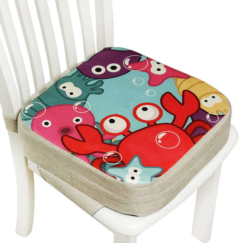Portable Children Increased Chair Pad Soft Baby Children Dining Cushion Adjustable Removable Chair Booster Cushion Pram ChairPad