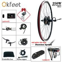 цена на 36V 250W eBike Kit Rear Cassette Gear Wheel Hub Motor 20 26 28 LCD3 LCD8 USB Display Electric Bike E-bike Conversion Kit