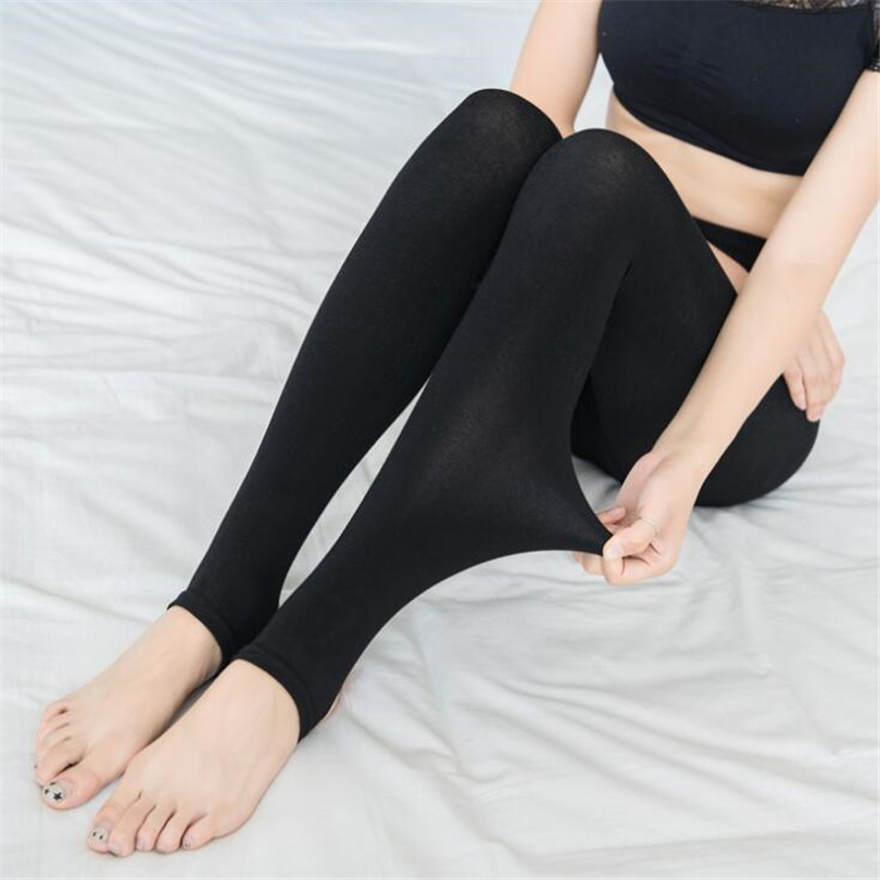 Black Autumn Winter Women Push Up Thick Warm Leggings Brushed Lining Stretch Fleece Pants Trample Feet High Elasticity Leggins