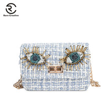 RARE CREATIVE Crossbody Bag Women Small Luxury Woolen Female Bag Famous Brand Shoulder Bag High Quality Designer Flap Bag HS8043
