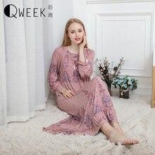 Langen Nachthemd Sexy Damen Nachtwäsche Plus Größe Nachtwäsche Chemise Nette Nachthemden für Frauen Modal Baumwolle Nachthemd Nighty Kleid