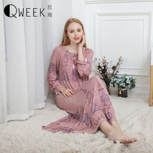 Long Nightgown Sexy Ladies Nightwear Plus Size Sleepwear Chemise Cute Nighties for Women Modal Cotton Nightdress Nighty Dress