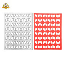 Square Background Die Metal Cutting Dies Cut Frame Die Mold Decoration Scrapbooking Embossing Paper Craft Mould Punch Stencils