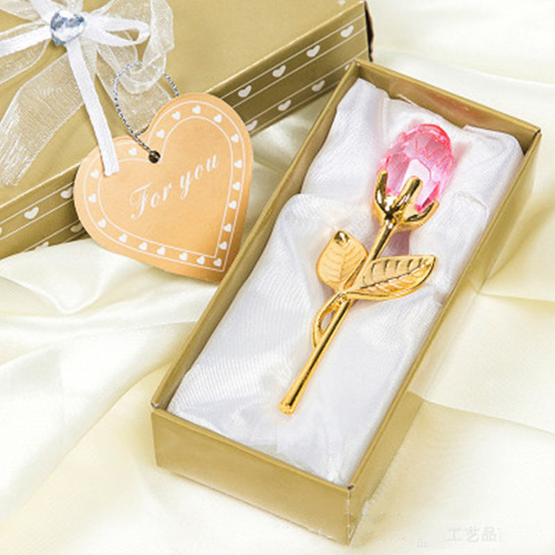 Мини Хрустальный цветок розы искусственный кристалл роза с металлическим стержнем цветок ветка год Свадьба Вечеринка Сувениры День Святого Валентина подарок