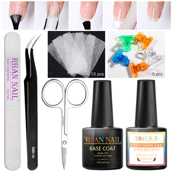 RBAN NAIL 7ml Nail Extension Gel Set Acrylic Fiberglass Nails Art Kit UV Gel Nail Polish Poly Extension Gel Kits Manicure Tools
